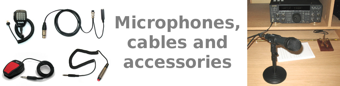 Microphones, cables and accessories
