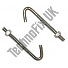 "J Bolt (Qty 2) 4½"" (12cm) for antenna aerial mounting chimney lashing etc."
