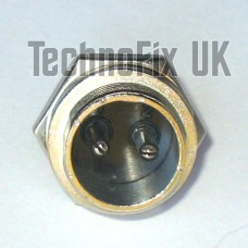 2 pin power connector locking chassis panel socket (GX16-2)