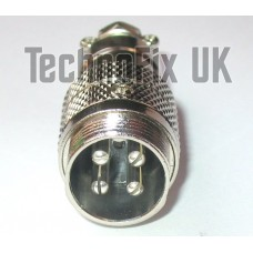 4 pin microphone line connector locking socket (GX16-4)