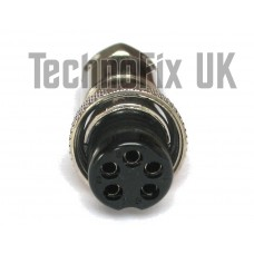 5 pin microphone connector locking plug (GX16-5)