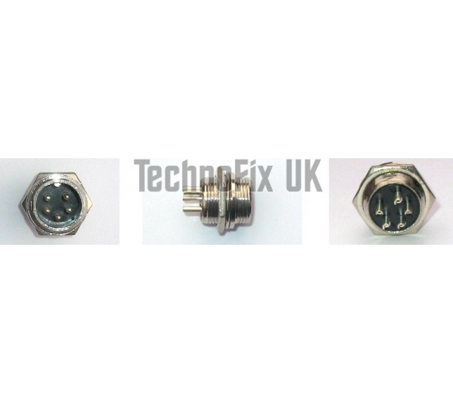 Pin Mike Socket Combo Wm X on Kenwood Radio Adapters