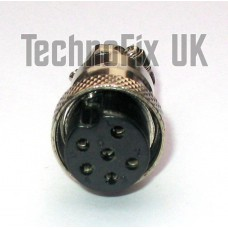 6 pin microphone connector locking plug (GX16-6)