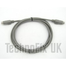 2m 6 pin mini DIN male to male cable for datamodes audio interface FT-8 etc.
