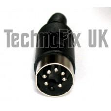 7 pin DIN male plug