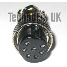 7 pin microphone connector locking plug (GX16-7)