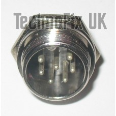 7 pin microphone connector locking chassis panel socket (GX16-7)
