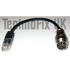 8 pin round to 8 pin modular (RJ45) microphone adapter for Kenwood, MJ-88  equivalent
