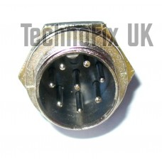 8 pin microphone connector locking chassis panel socket (GX16-8)
