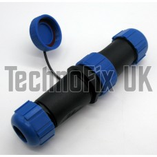 8 pin waterproof in-line connectors for rotator cables rotor etc., 1 pair