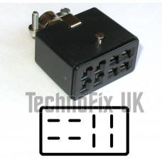 8 pin female rotator or power connector, fits Hy-Gain HAM IV rotor