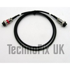 Straight cable for Adonis microphones, 8 pin round plug to 4 pin round plug for Kenwood transceivers