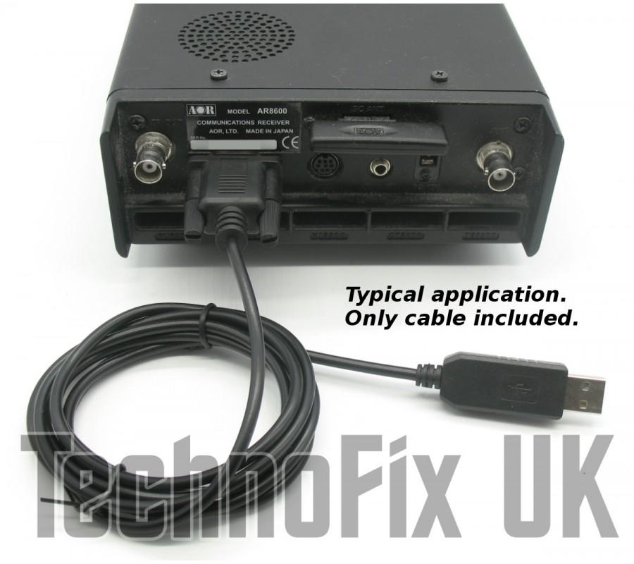 USB Cat & programming cable for AOR AR-2500 AR-3030 AR-5000