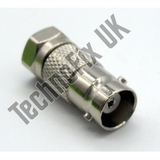 BNC female to F type male adapter (BNC F to F M)
