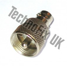 BNC female to PL259 male adapter (BNC F to UHF M)