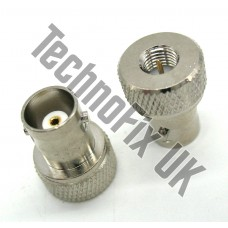 BNC female to SMA male adapter (BNC F to SMA M) fits handhelds with SMA female