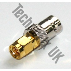 BNC female to SMA male adapter (BNC F to SMA M)
