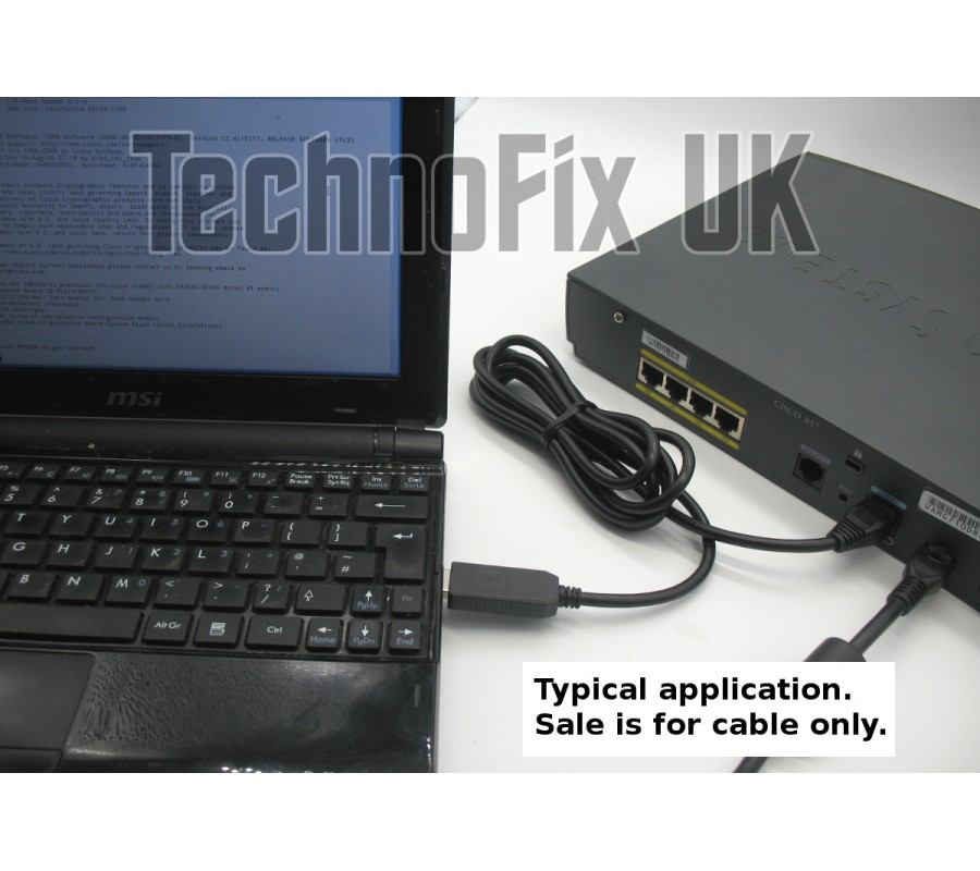 Ftdi Usb To Serial Rs232 Console Rollover Cable For Cisco
