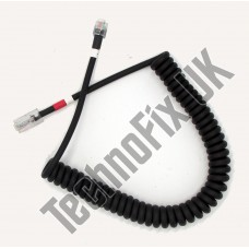 Cable for PMC-100 desk microphones, 8p8c modular plug to 6p6c modular plug for Yaesu
