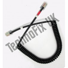 Cable for PMC-100 desk microphones, 8p8c modular plug to 8p8c modular plug for Kenwood