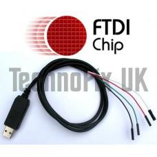 FTDI USB to serial TTL console/debug cable for Raspberry Pi