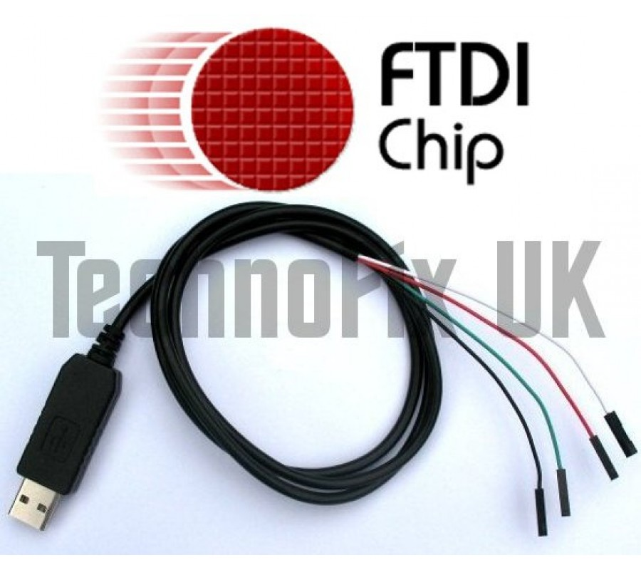 FTDI USB to serial TTL console/debug cable for Raspberry Pi