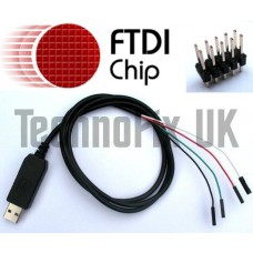 FTDI USB to serial TTL console/debug cable + header for WRT54g etc. (OpenWRT, DD-WRT)