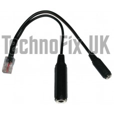 Cable for Heil headsets 3.5mm jack to 8p8c modular RJ45 for Kenwood, AD-1-KM equivalent