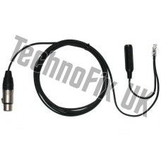 Cable for Heil microphones 3 pin XLR to 8p8c RJ45 Yaesu FT-817, FT-857 FT-450 FT-900 FT-991 etc