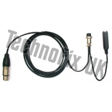 Cable for Heil microphones 4 pin XLR to 8 pin round for Kenwood, CC-1-K8 equivalent