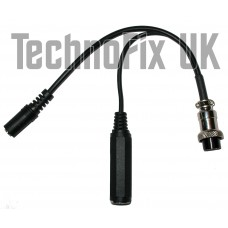 Cable for PC headsets 3.5mm jack, 8 pin round for Icom transceivers