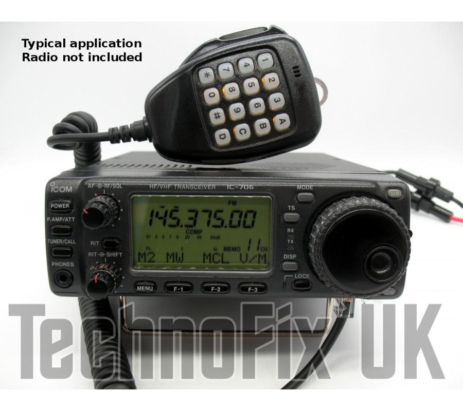 DTMF microphone for Icom IC-703 IC-706 (Mk II, MkIIG) IC-7100