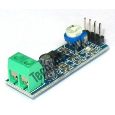 LM386 mini audio amplifier module, 4-12VDC, 500mW