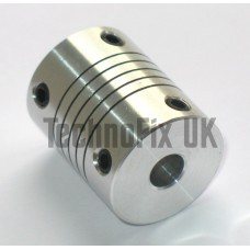 "6.35mm ¼"" metal flexible shaft coupler for variable capacitor ATU, VFO, linear etc."