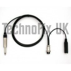 "Cable for studio mixer ¼"" jack to 8 pin round plug for Yaesu transceivers"