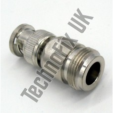 N type female to BNC male adapter (N type F to BNC M)