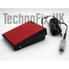 Metal PTT Tx/Rx transmit foot-switch for desk/boom microphone/headset, phono RCA plug