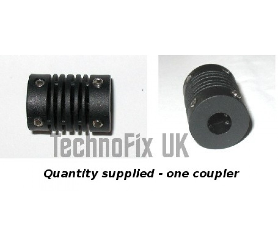6mm Plastic Flexible Shaft Coupler For Variable Capacitor