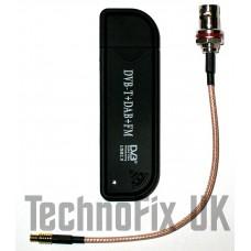 Newsky TV28T RTL2832U/R820T RTL-SDR USB Stick + BNC pigtail