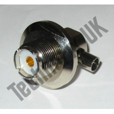 SO239 antenna base/connector, right-angled (for aerials with PL259 fitting)