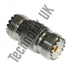 SO239 UHF female to female barrel coupler (UHF F to UHF F) - accepts PL259 plugs