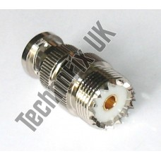 SO239 female to BNC male adapter (UHF F to BNC M)