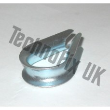 Galvanised steel thimble for aerials, antennas, guy wires etc.