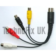 4 band VHF/UHF linear amp switching cable for Kenwood TS-2000